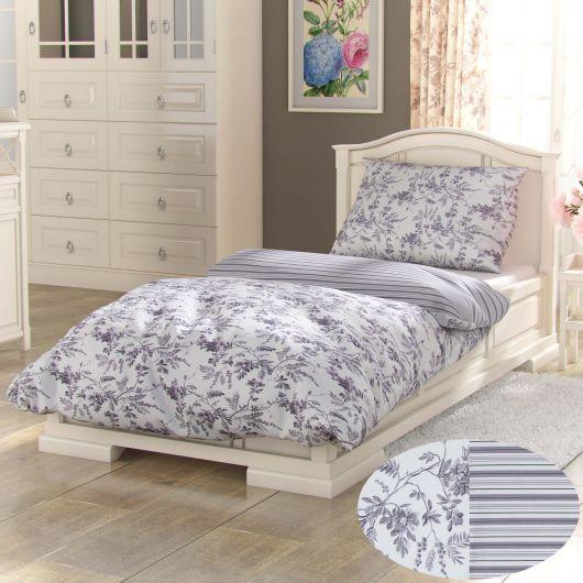 Predĺžené bavlnené obliečky PROVENCE COLLECTION 140x220, 70x90cm MONTERA sivá