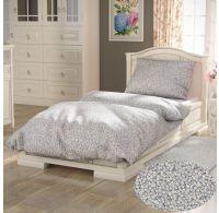 Predĺžené bavlnené obliečky PROVENCE COLLECTION 140x220, 70x90cm SEDMOKRÁSKA sivá