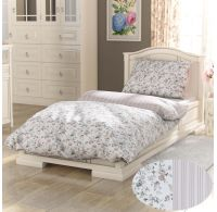 Predĺžené bavlnené obliečky PROVENCE COLLECTION 140x220, 70x90cm VIENTO béžové