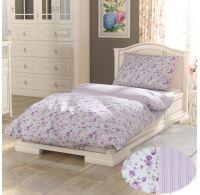 Predĺžené bavlnené obliečky PROVENCE COLLECTION 140x220, 70x90cm VIENTO ružové
