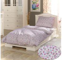 Predĺžené bavlnené obliečky PROVENCE COLLECTION 140x220, 70x90cm Žaneta ružová