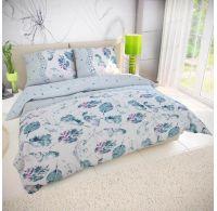 Predľžené posteľné bavlnene obliečky LUDA zelená 140x220, 70x90cm