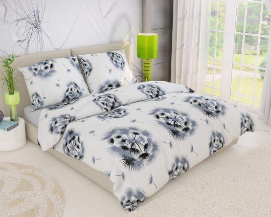 Predl'žené krepové posteľné obliečky DREAM biele 140x220, 70x90cm