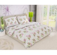 Predl'žené krepové posteľné obliečky PSANÍČKO ružové 140x220, 70x90cm