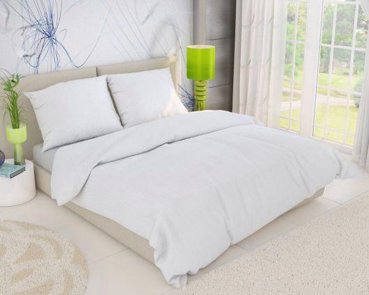 Predl'žené krepové posteľné obliečky BIELE 140x220, 70x90cm