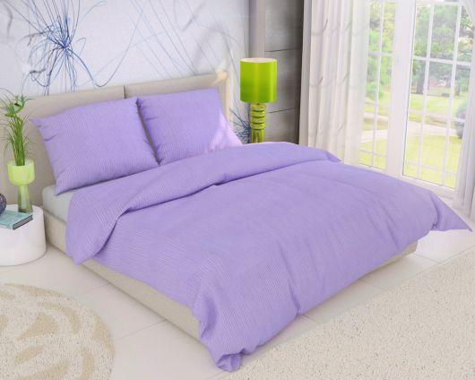 Predl'žené krepové posteľné obliečky FIALOVÉ 140x220, 70x90cm