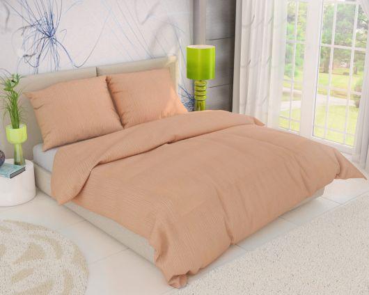 Predl'žené krepové posteľné obliečky LOSOSOVÉ 140x220, 70x90cm