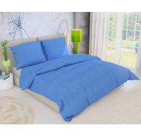 Predl'žené krepové posteľné obliečky MODRÉ 140x220, 70x90cm