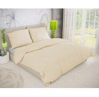 Predl'žené krepové posteľné obliečky SMOTANOVÉ 140x220, 70x90cm