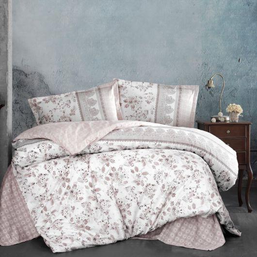 Predĺžené posteľné flanelové obliečky 140x220, 70x90cm BUDVA hnedá