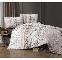Predĺžené posteľné flanelové obliečky 140x220, 70x90cm COSTA béžová