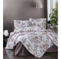 Predĺžené posteľné flanelové obliečky 140x220, 70x90cm MIAROSA béžová