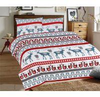 Predĺžené posteľné flanelové obliečky 140x220, 70x90cm SOBI sivé