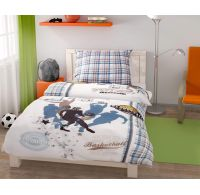 Predĺženej posteľné obliečky pre mladých 140x220, 70x90cm Basket