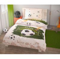 Predĺžené posteľné obliečky pre mladých 140x220, 70x90cm Fotbal