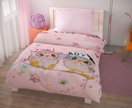 Predĺžené posteľné obliečky pre mladých 140x220, 70x90cm PUHU ružové