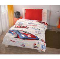 Predĺžené posteľné obliečky pre mladých 140x220, 70x90cm Racing