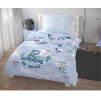 Predĺžené posteľné obliečky pre mladých 140x220, 70x90cm Skate