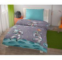 Predĺžené posteľné obliečky pre mladých 140x220, 70x90cm SPACE