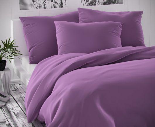 Saténové francúzske obliečky LUXURY COLLECTION fialové 1 + 2, 200x200, 70x90cm