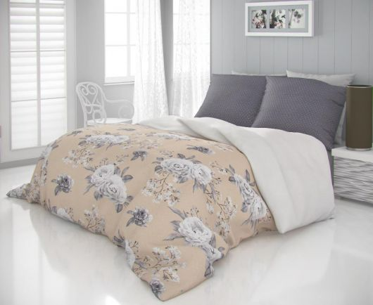 Saténové francúzske obliečky LUXURY COLLECTION 1 + 2, 200x200, 70x90cm KENZO béžové