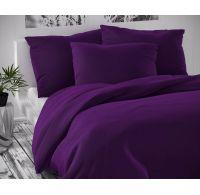 Saténové francúzske obliečky LUXURY COLLECTION tmavo fialové 1 + 2, 200x200, 70x90cm