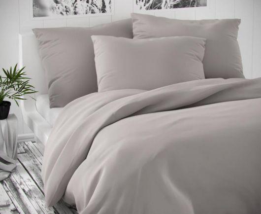 Saténové francúzske obliečky LUXURY COLLECTION svetlo sivé 1 + 2, 240x200, 70x90cm