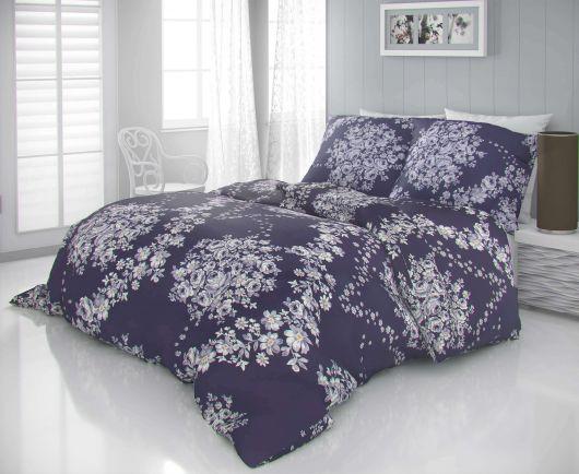 Saténové obliečky LUXURY COLLECTION 140x200, 70x90cm MELROSE fialové