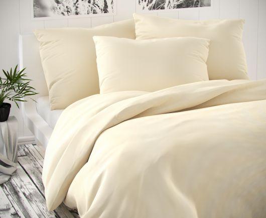 Saténové postel'né obliečky LUXURY COLLECTION smotanove 140x200, 70x90cm