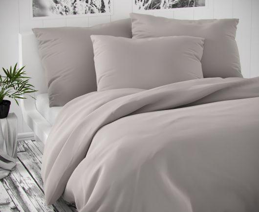 Saténové postel'né obliečky LUXURY COLLECTION svetlo sive 140x200, 70x90cm