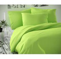 Saténové posteľné obliečky LUXURY COLLECTION svetlo zelené 140x200, 70x90cm