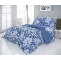 Saténové obliečky LUXURY COLLECTION 140x200, 70x90cm VINTAGE modrá