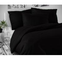 Saténové predľžené postel'né obliečky LUXURY COLLECTION čierne 140x220, 70x90cm