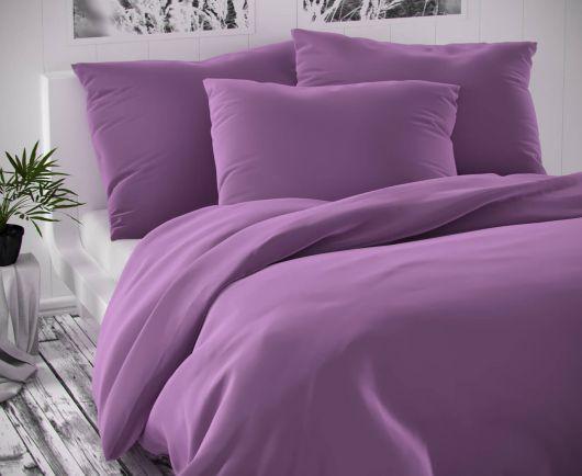 Saténové predľžené posteľné obliečky LUXURY COLLECTION fialové 140x220, 70x90cm