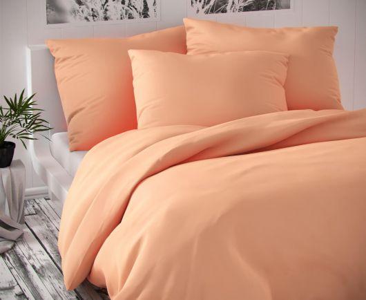 Saténové predľžené postel'né obliečky Luxury Collection lososové 140x220, 70x90cm