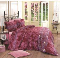 Saténové predľžené posteľné obliečky LUXURY COLLECTION  140x220, 70x90cm ORIENT bordó
