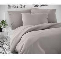 Saténové predľžené postel'né obliečky LUXURY COLLECTION svetlo sive 140x220, 70x90cm