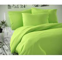 Saténové predĺžené posteľné obliečky LUXURY COLLECTION svetlo zelené 140x220, 70x90cm