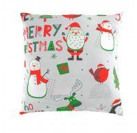 Vianočná obliečka na vankúš CHRISTMAS sivé