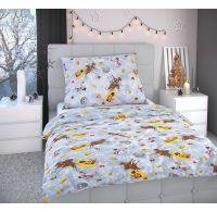 Vianočné obliečky 140x200, 70x90cm SNEHULIACI siví