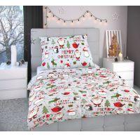 Vianočné obliečky 140x220, 70x90cm CHRISTMAS sivé